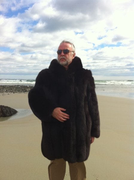 Mark in Black Fox Fur Parka