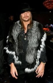 Kid Rock In Silver Fox Fur Collar