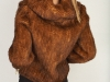 Knitted Whiskey Mink Zipper Jacket