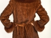 Knitted Whiskey Mink Coat W/Fox