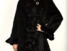 Knitted Black Mink Coat W/Ruffles