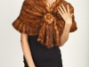 Medium Knitted Whiskey Mink Shawl