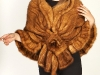95lLarge Knitted Whiskey Mink Shawl