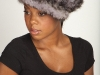 Blue Iris Knitted Mink Hat