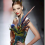 jean paul gaultier fur and feather bustier and matching head ornament