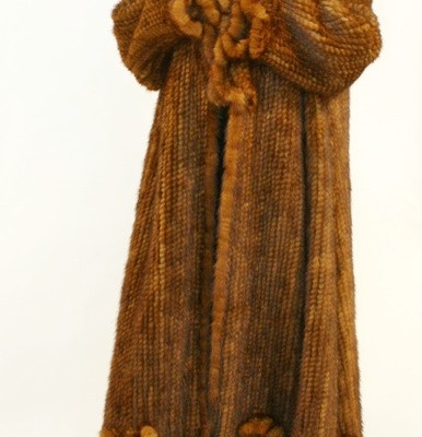 Ladies Knitted Whiskey Mink 014911