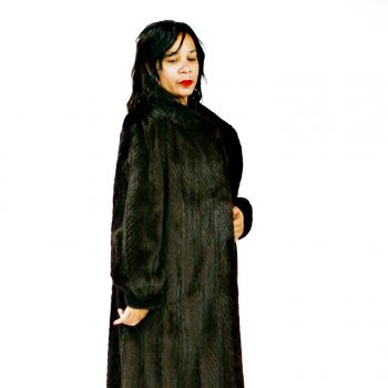Full Length Feathered Ranch Mink Coat 017613