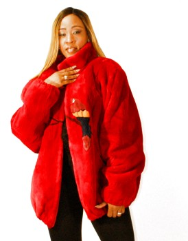 Sheared Red Beaver Jacket 017781