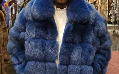 a7a4050a11d1 Royal Blue Fox Jacket 018693